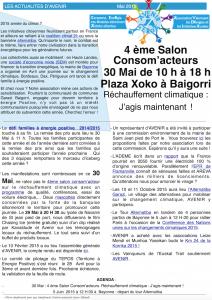 newletter mai 2015